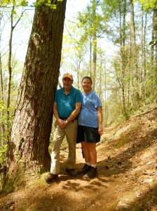 JL and Lin hiking trail